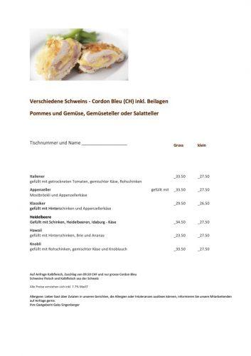Cordon Bleu Restaurant Neu Toggenburg, Wil
